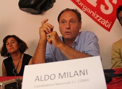 Aldo Milani, coordinatore nazionale S. I. Cobas
