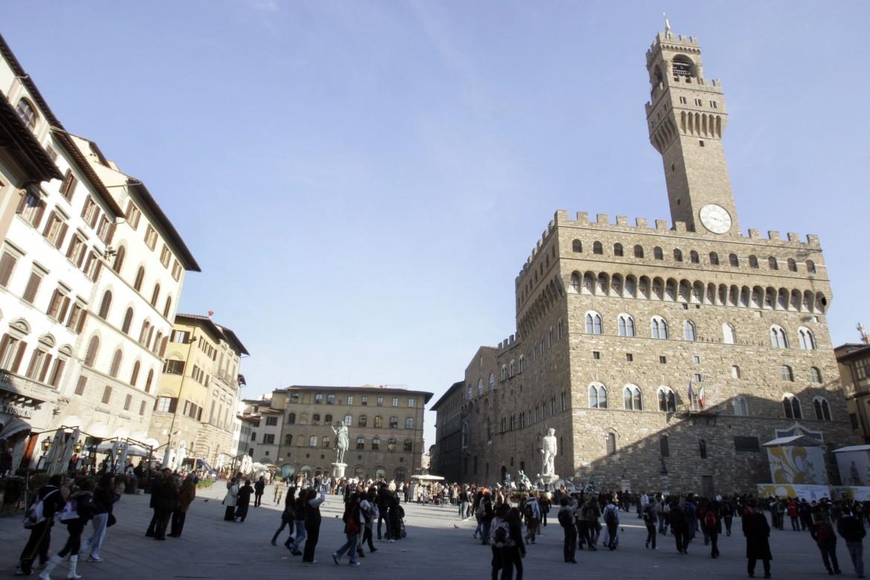 Piazza Signoria con Palazzo Vecchio