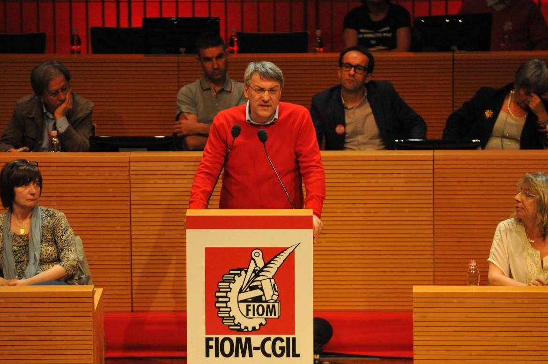 Maurizio Landini al congresso