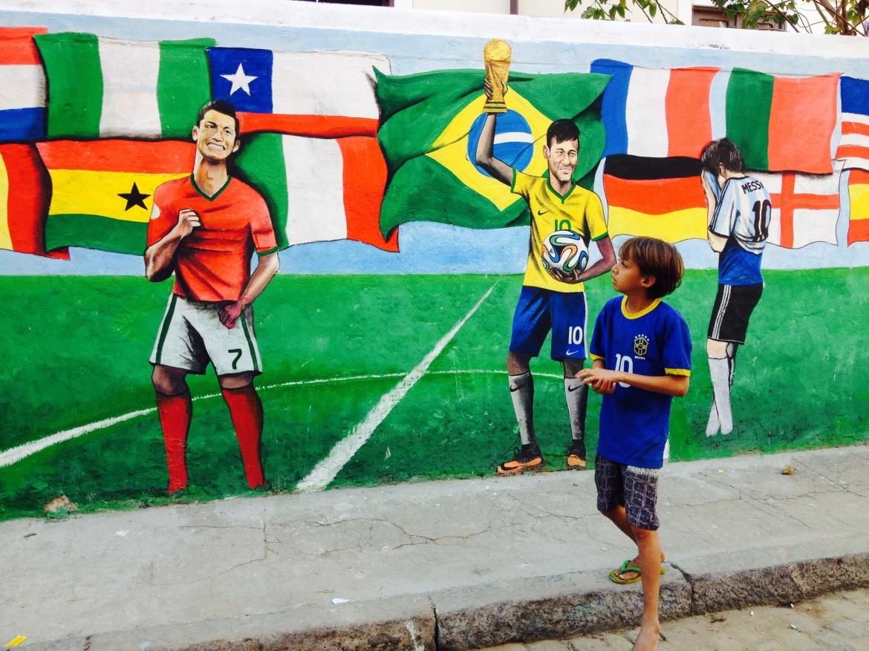Murales a Rio, i brasiliani si davano per vincitori
