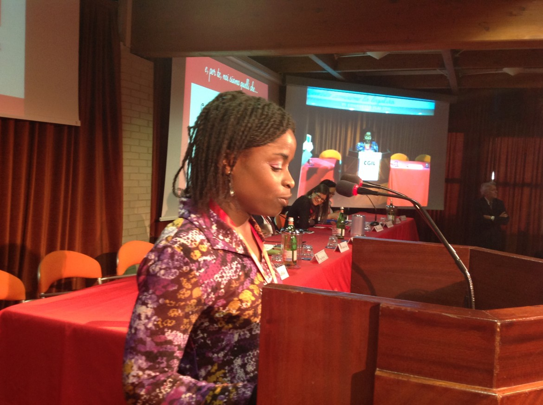 Agnese, che ha raccontato la sua storia drammatica al congresso Flai Cgil di Cervia. Per motivi di sicurezza il suo cognome non è pubblicabile