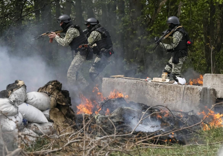 Scene di guerra in Ucraina