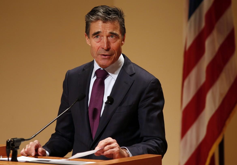 Il segretario generale della Nato Rasmussen