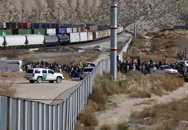 Il confine di Ciudad Juarez che separa il Messico dagli Usa
