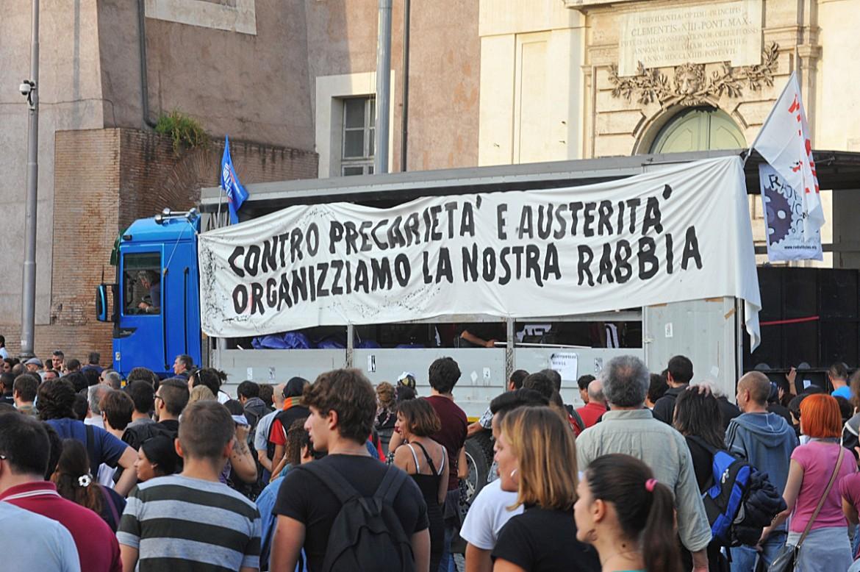 Manifestazione dei movimenti a Roma, marzo 2014