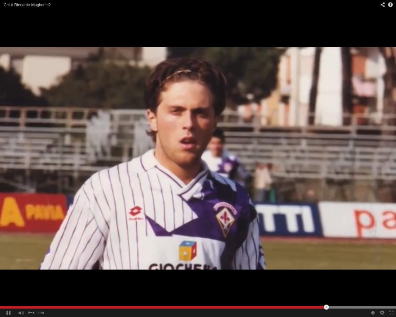 Riccardo Magherini quando giocava con le giovanili della Fiorentina