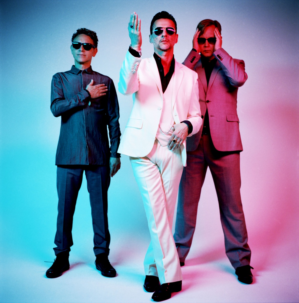 Dave Gahan, Martin Gore e Alan Wilder, i Depeche Mode