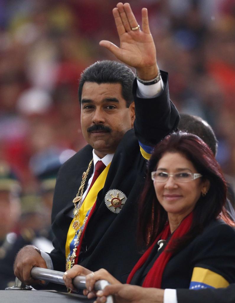 Nicolas Maduro e Cilia Flores