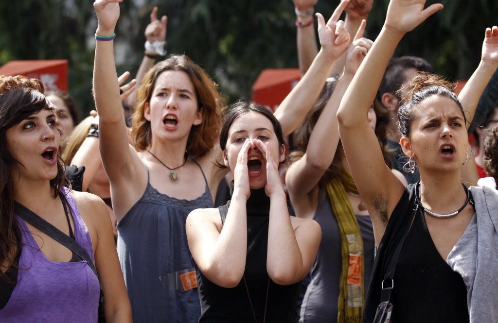 Protesta delle donne spagnole