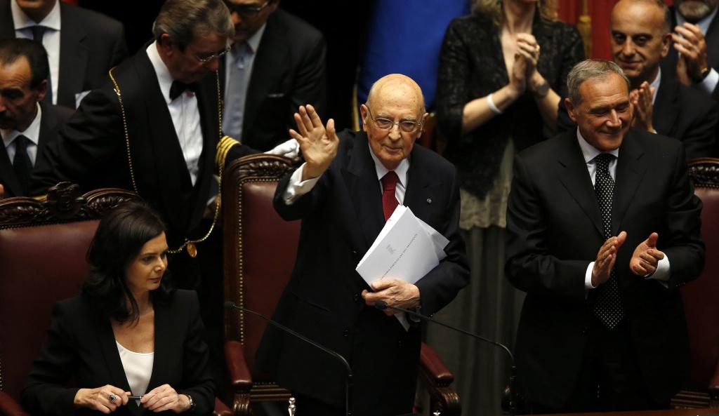 Giorgio Napolitano giura per il secondo mandato