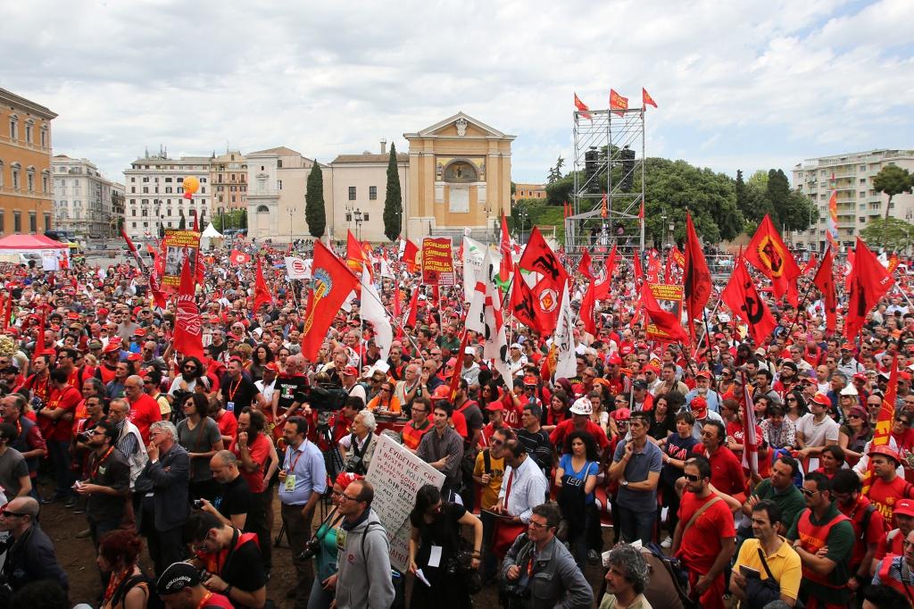 La Fiom a piazza San Giovanni il 18 maggio 2013