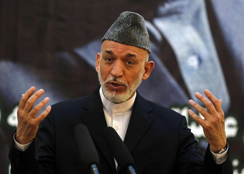 Il presidente afghano Karzai