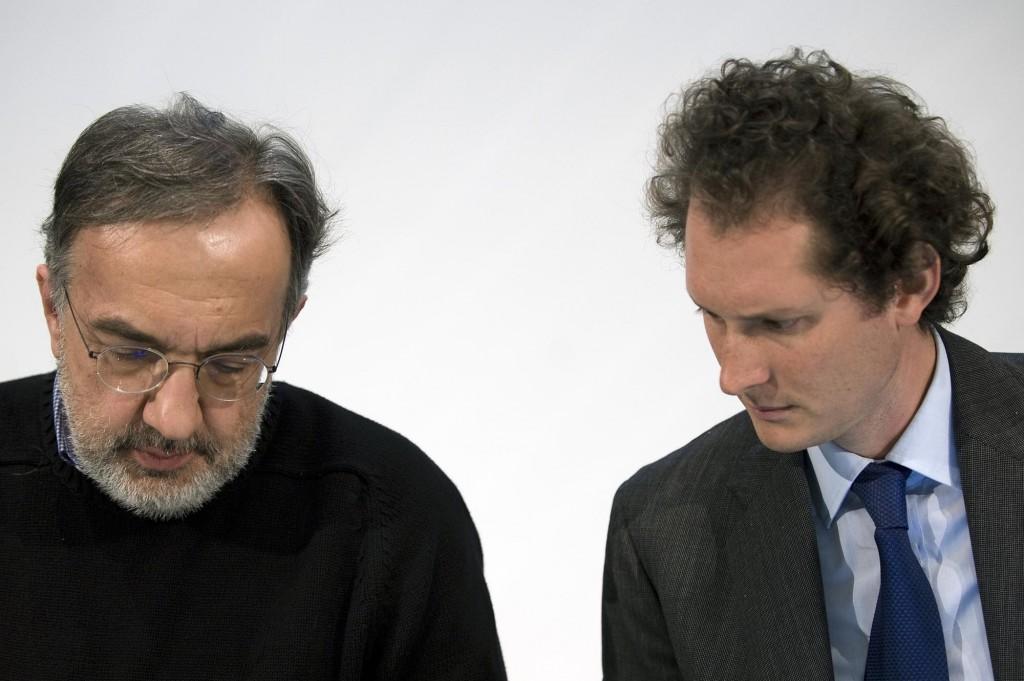 Sergio Marchionne e John Elkann, rispettivamente ad e presidente di Fca