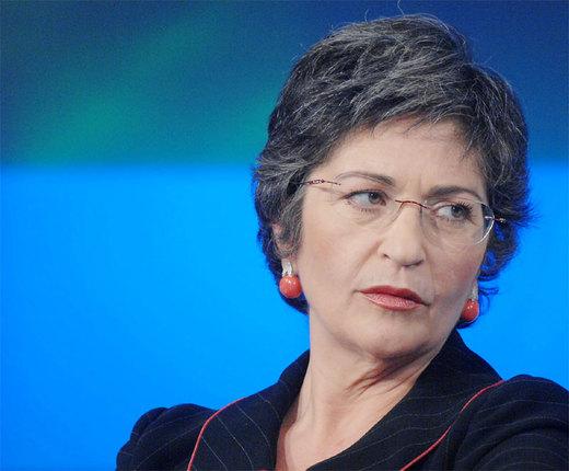 La presidente della prima commissione del senato Anna Finocchiaro