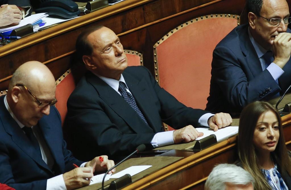 Berlusconi in senato