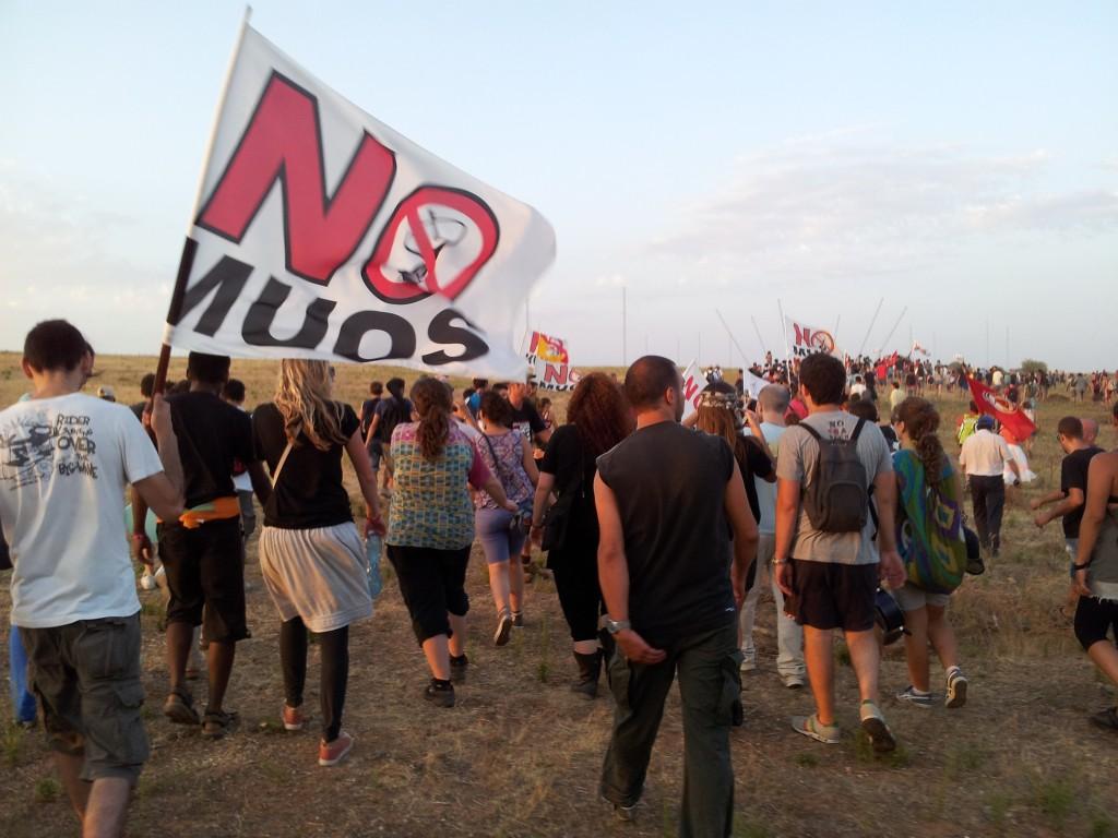La manifestazione No Muos di ieri a Niscemi