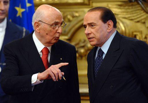 Giorgio Napolitano con Silvio Berlusconi