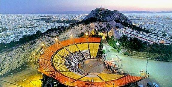 Una veduta di Atene