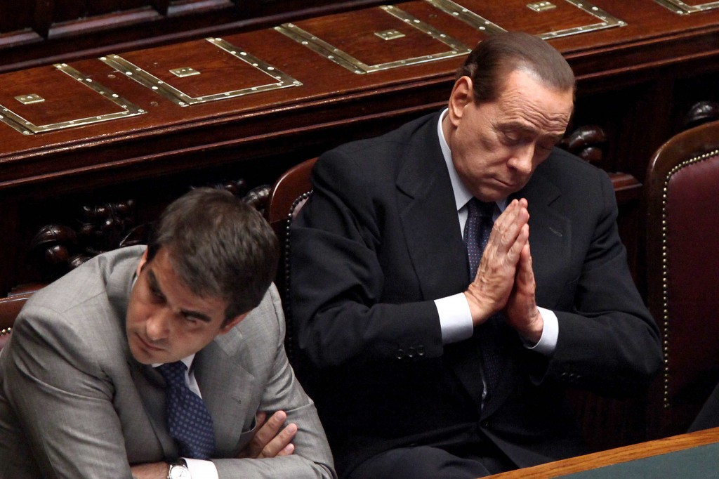 Raffaele Fitto con Slvio Berlusconi