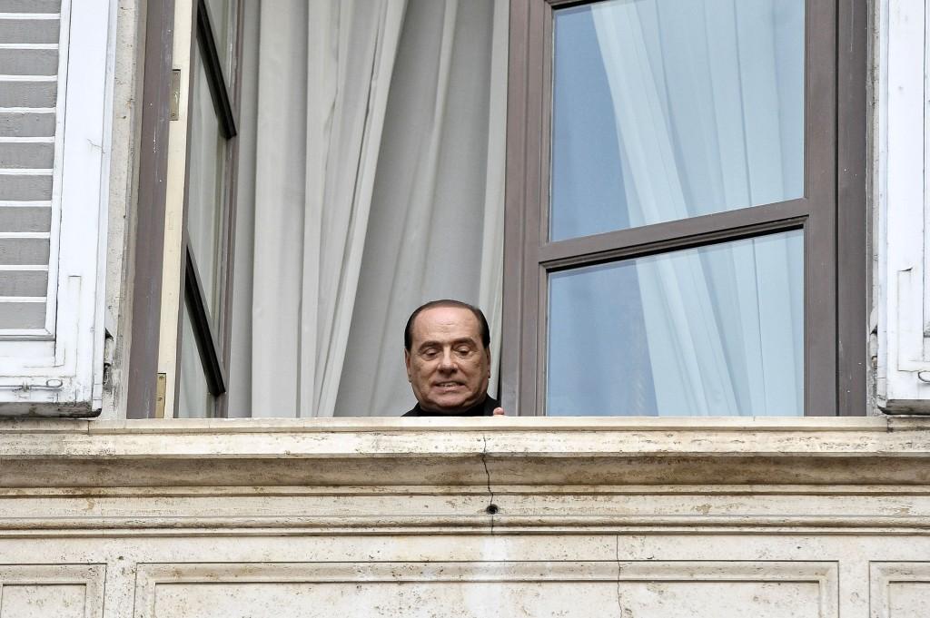 Silvio Berlusconi nella sua residenza romana