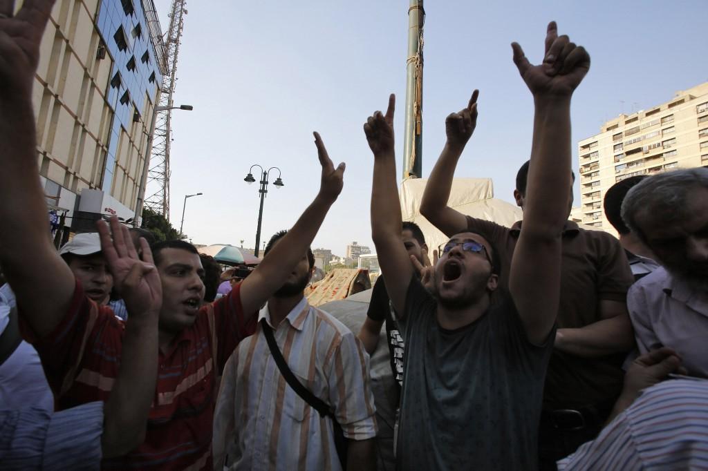 La protesta dei fratelli musulmani