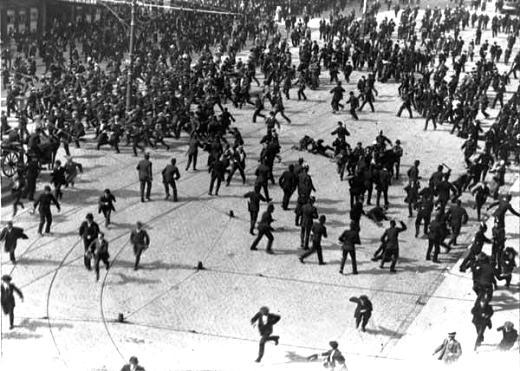 Scontri durante lo sciopero irlandese dell'agosto del 1913