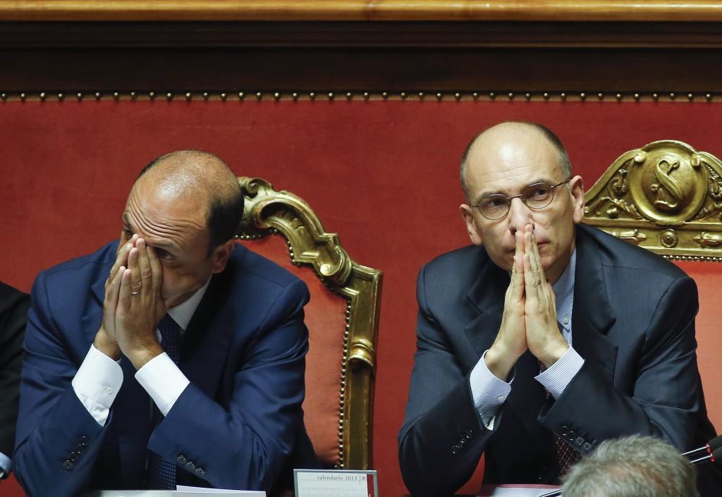 Angelino Alfano e Enrico Letta