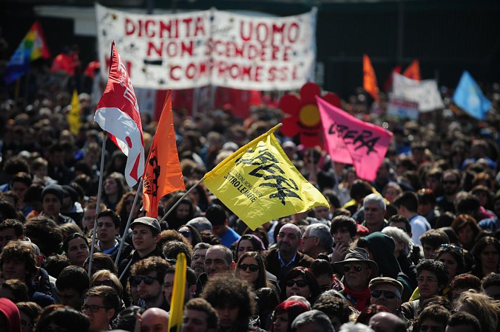 Firenze, manifestazione di Libera contro le mafie