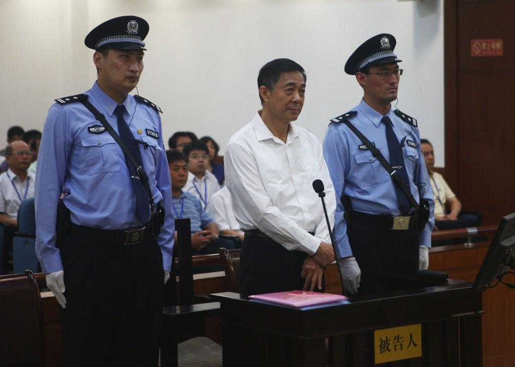 Bo Xilai all'apertura del processo a Jinan