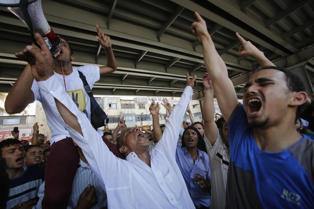La protesta dei Fratelli mussulmani