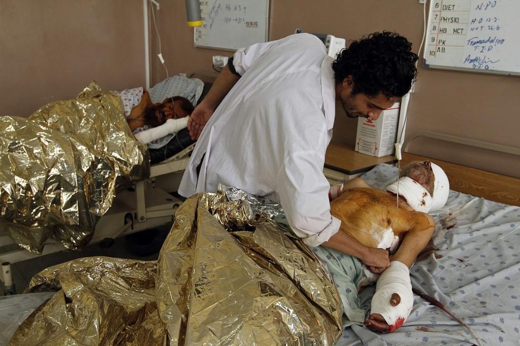 Un ferito nell'ospedale di Kandahar