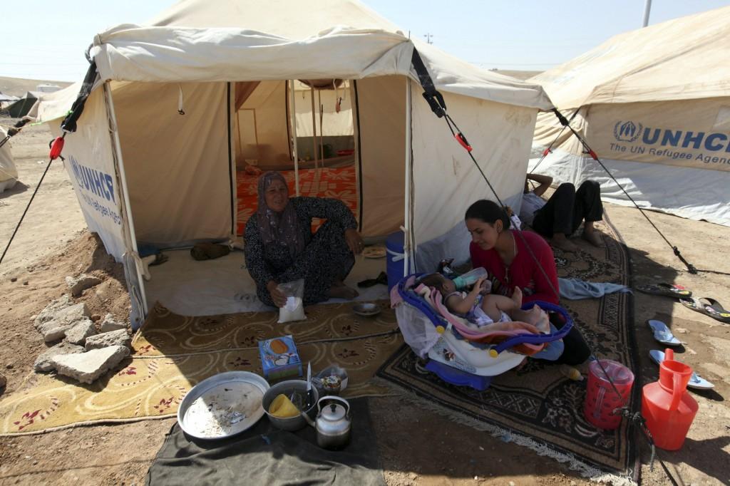 Profughi siriani a Erbil, nel Kurdistan iracheno