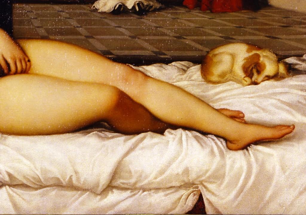 Particolare della Venere di Urbino di Tiziano