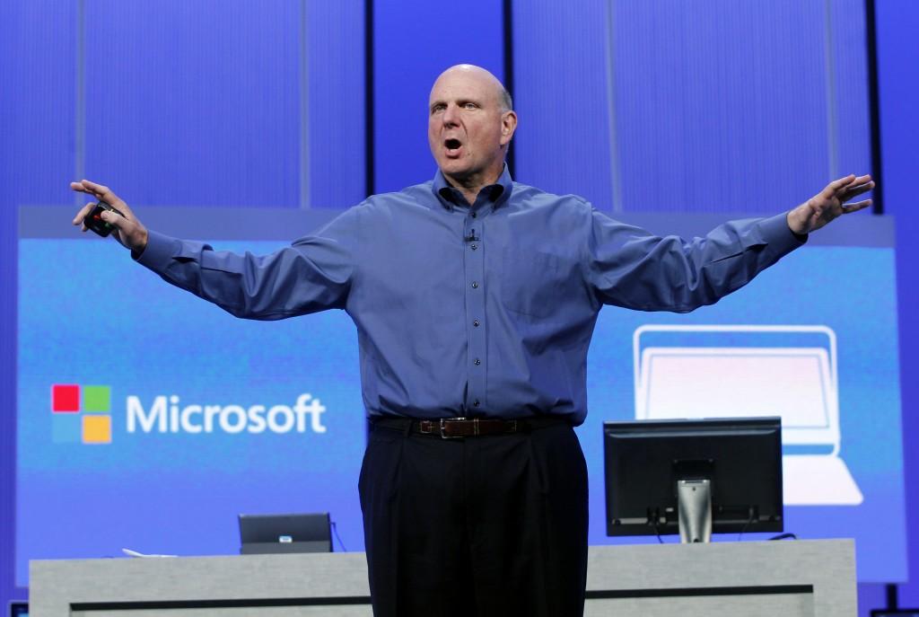 L'ad di Microsoft Steve Ballmer