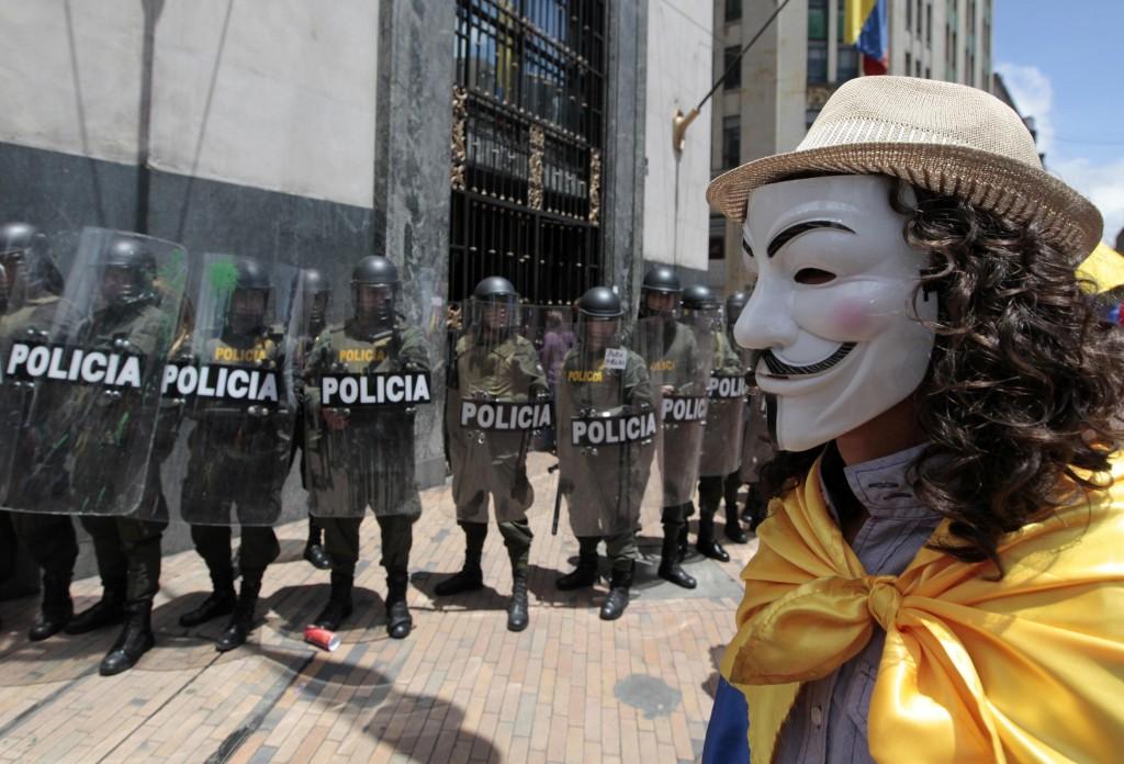 Manifestazione a Bogotà