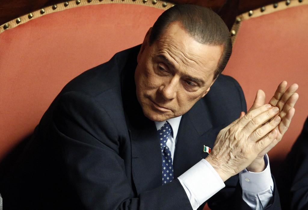 Silvio Berlusconi in senato