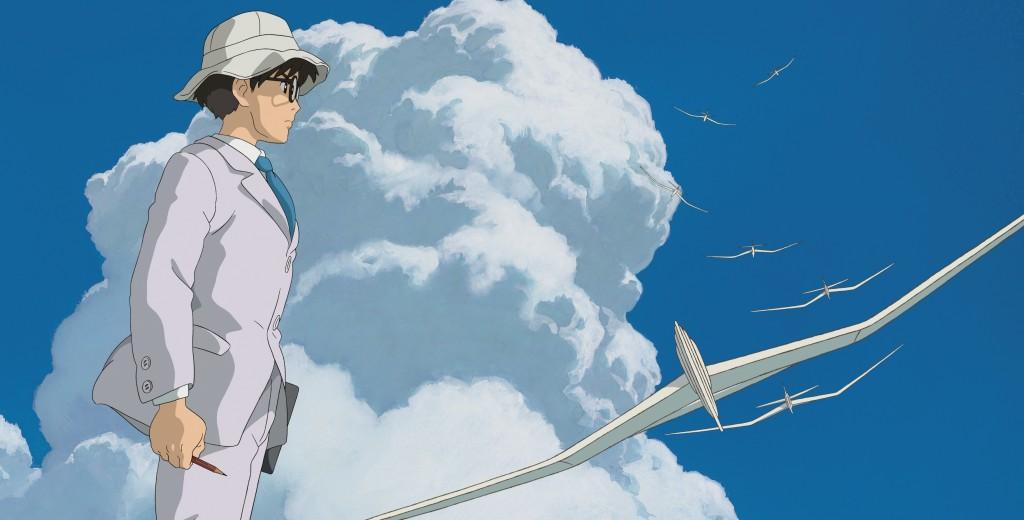 Un'immagine tratta da Il vento si leva di Hayao Miyazaki