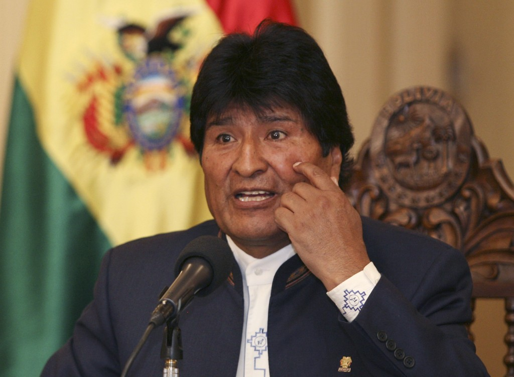 Il presidente della Bolivia Evo Morales
