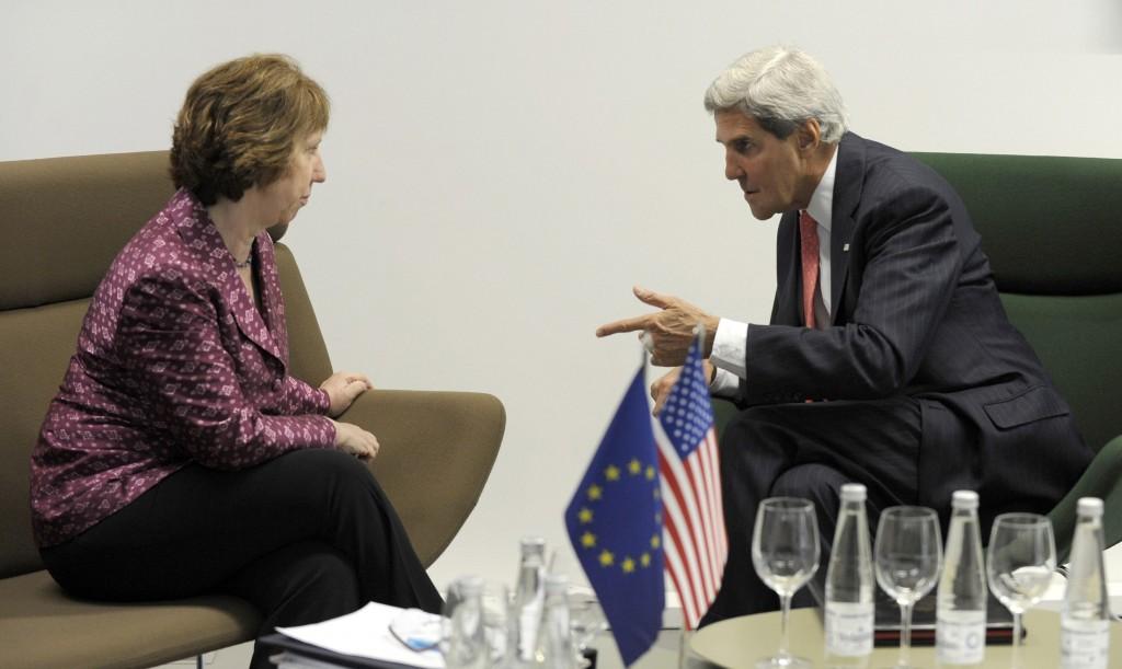 Catherine Ashton e John Kerry al vertice di Vilnius