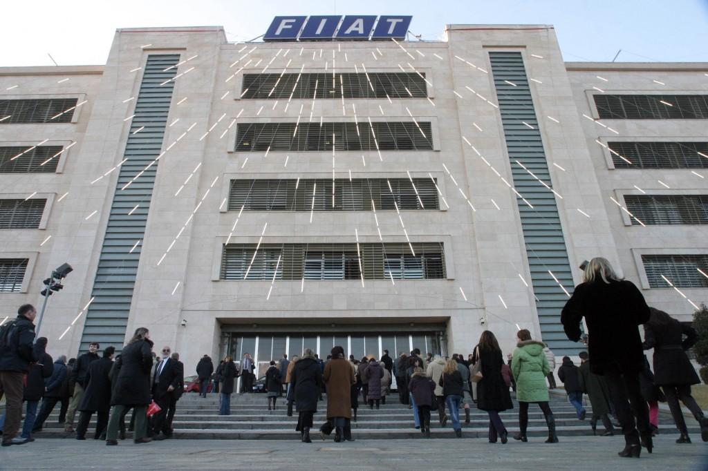 Lo stabilimento Fiat di Mirafiori