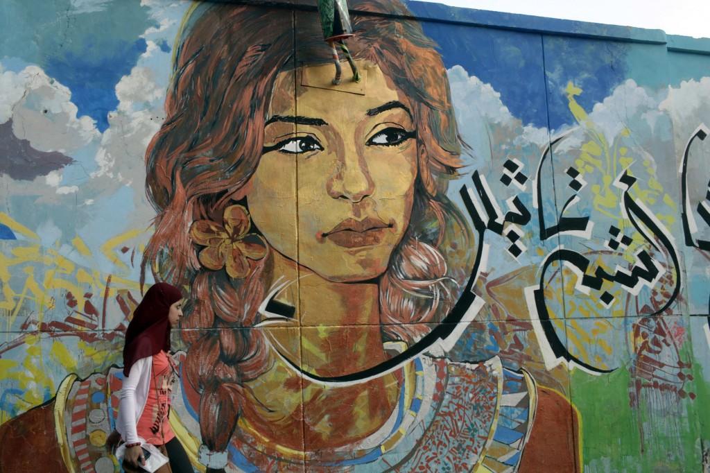 un murales nei pressi di piazza Tahrir