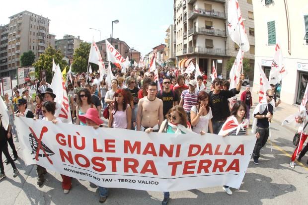 Manifestazione in Val di Susa