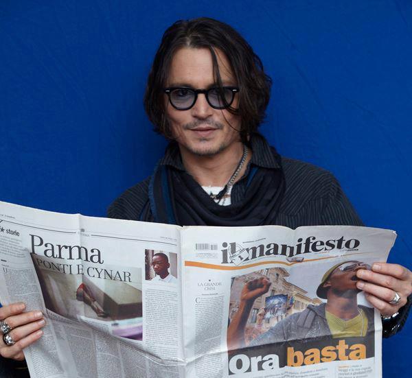 Johnny Depp per il manifesto