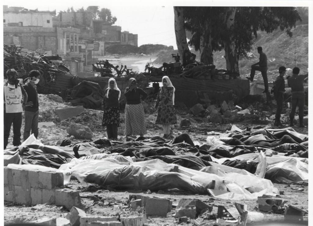 I campi palestinesi di Sabra e Chatila nel 1982