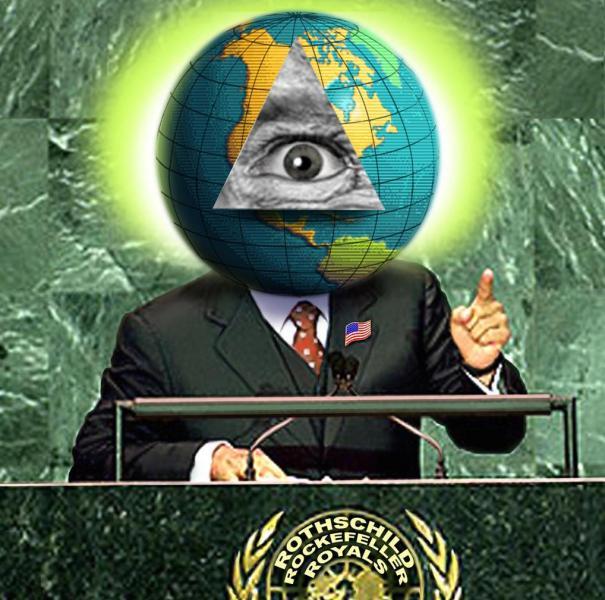 Disegno satirico sul Club Bilderberg