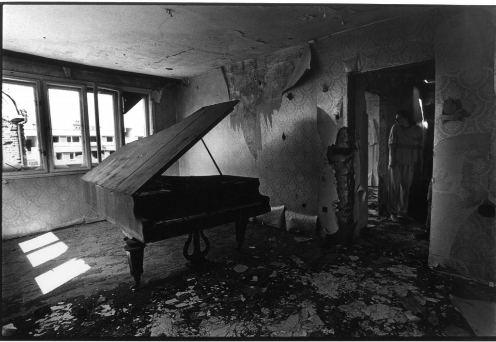 Una casa serba abbandonata a Sarajevo