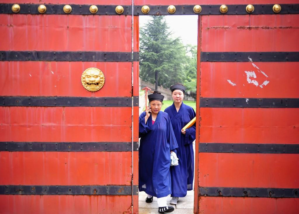 L'ingresso di un tempio cinese taoista