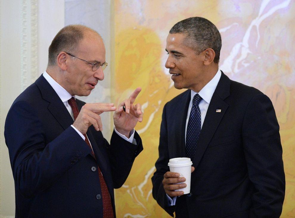 Letta e Obama al recente summit del G20 di San Pietroburgo