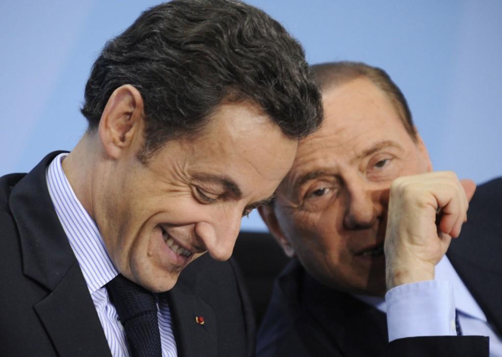 Sarkozy e Berlusconi quando erano alla guida dei rispettivi governi
