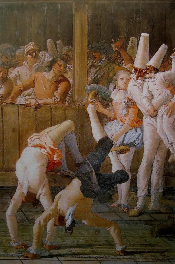 Pulcinella e i saltimbanchi, 1790